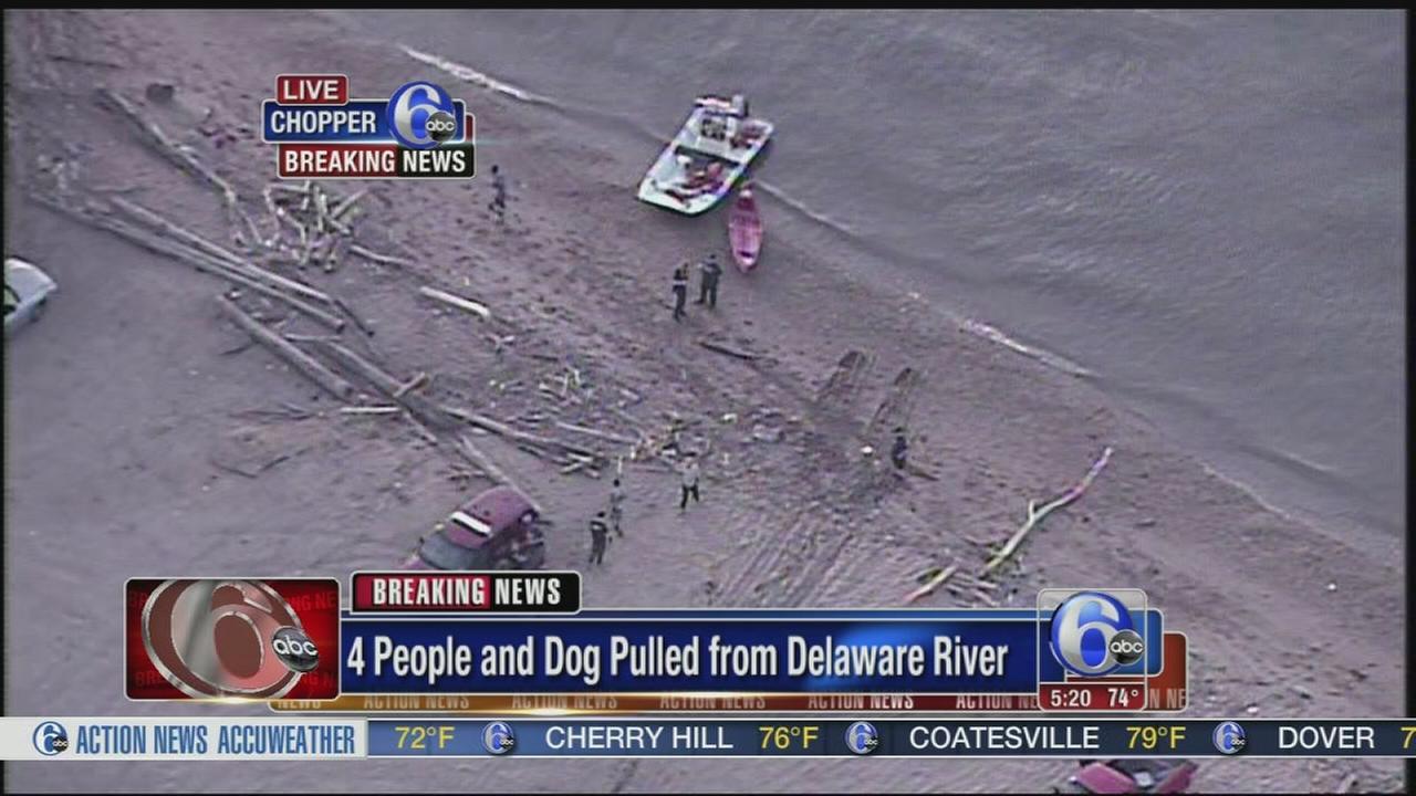 VIDEO: Del. river rescue