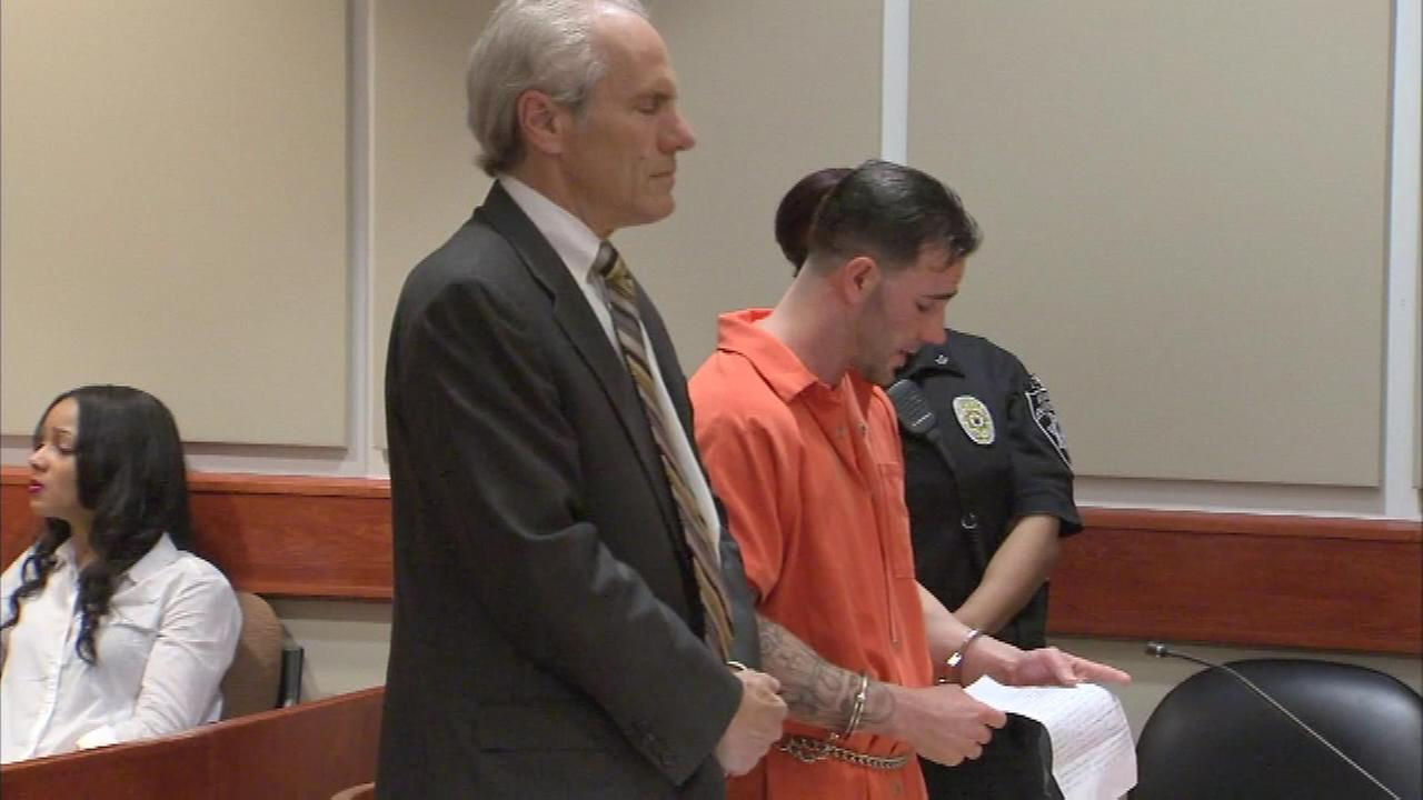 Pictured: Kyle Crosby was sentenced for killing his wife, Erica Crosby, on New Year's Eve 2014.
