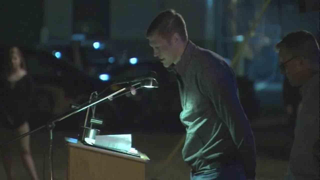 Hundreds gathered Thursday night to honor New Jersey State Trooper Sean Cullen in Westampton.