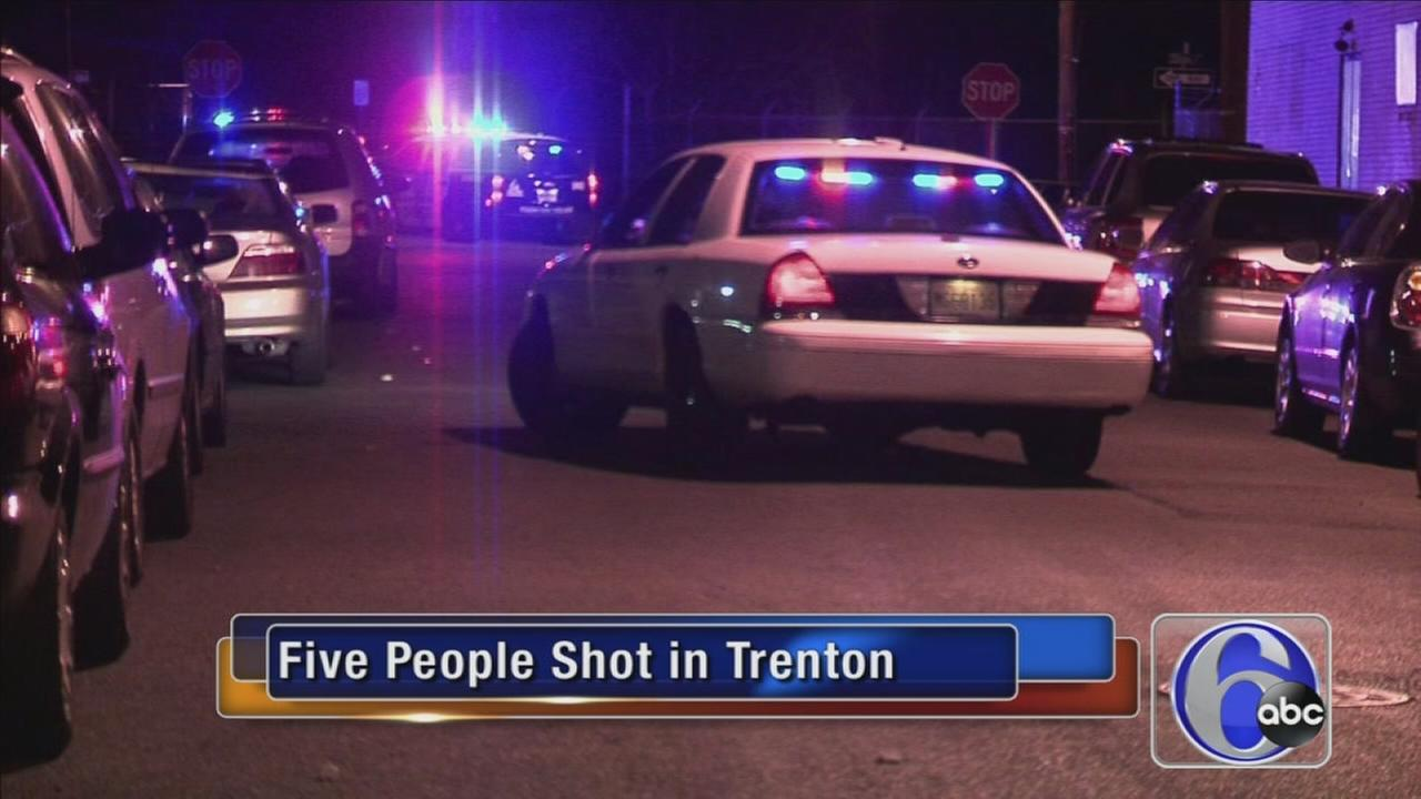 VIDEO: Five shot, wounded in Trenton