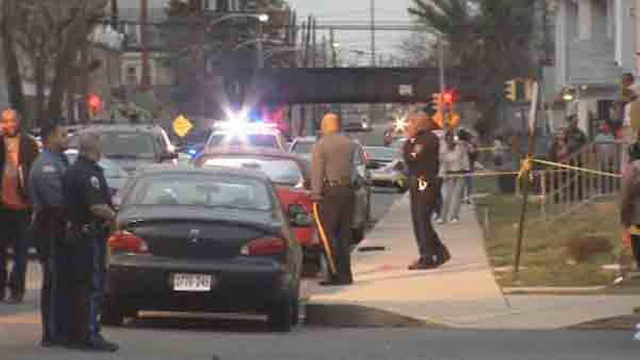 Police say an officer was critically injured and a person was killed in a shootout in Chester.