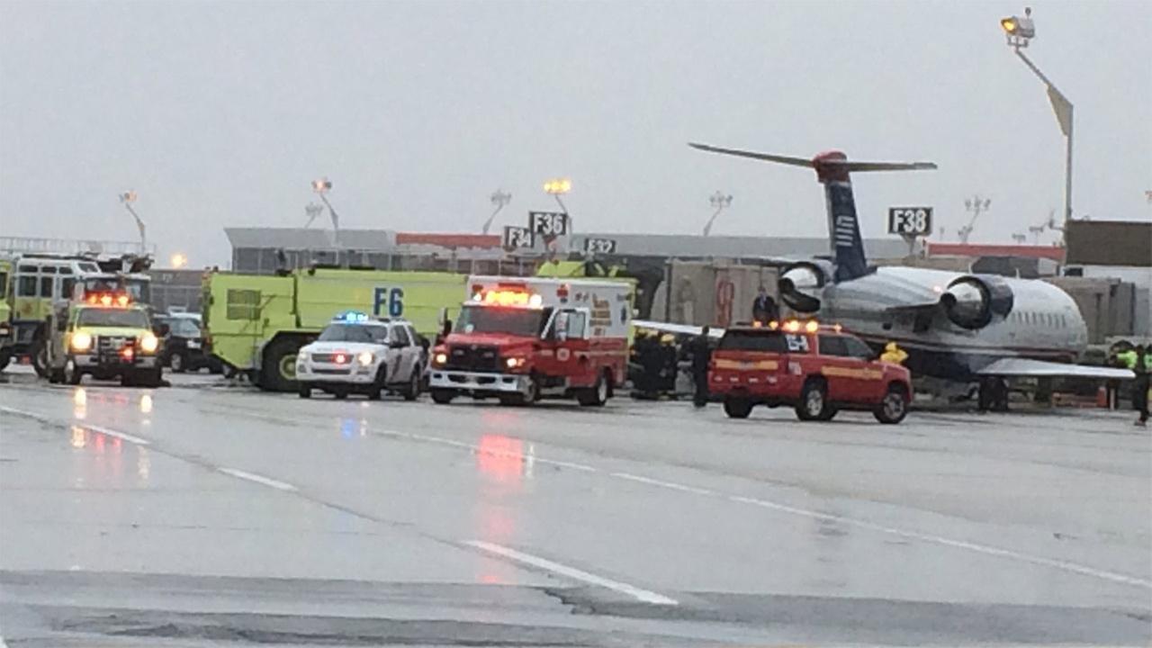 Vehicle strikes plane at Philadelphia International Airport