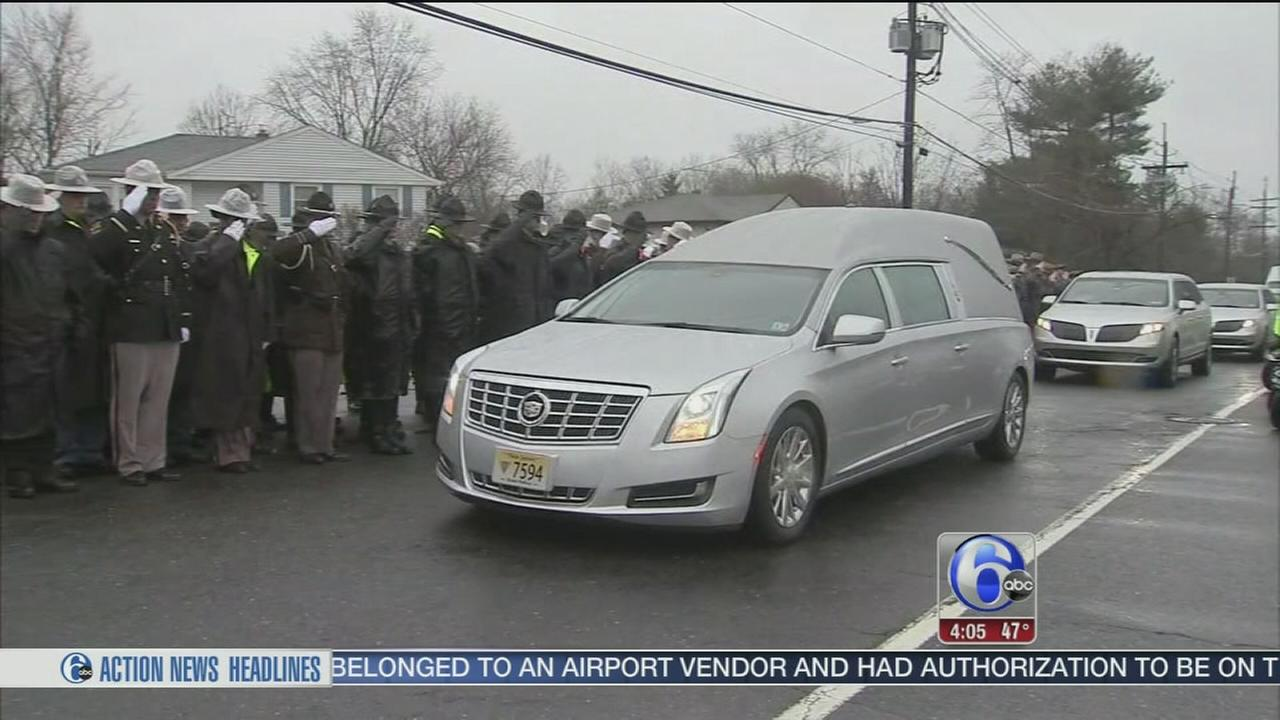 VIDEO: NJ State Trooper fatally struck by car laid to rest