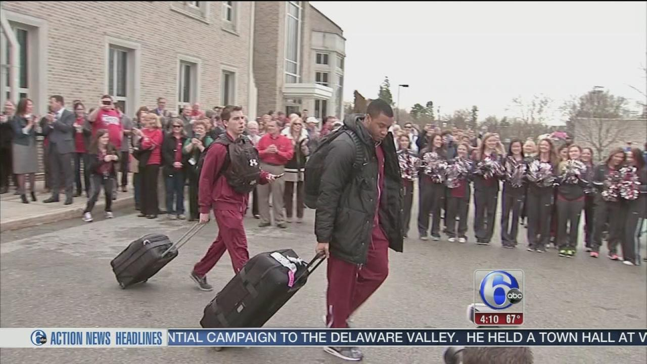 VIDEO: Teams on their way to March Madness