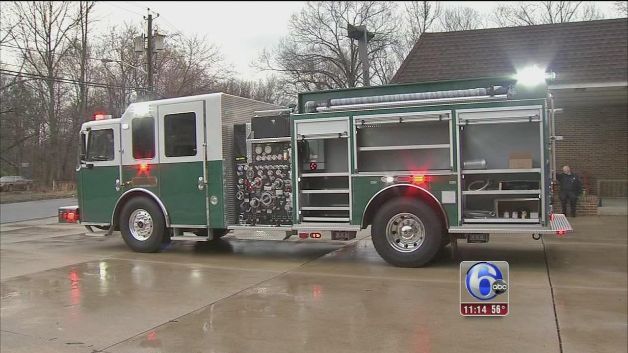 New fire truck unveiled, in St. Pattys green