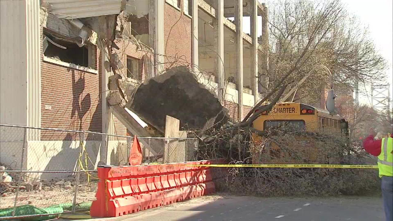 The Action Cam was on the scene of where debris from a construction site fell onto a school bus at 5th and Race Street in Old City Thursday morning.
