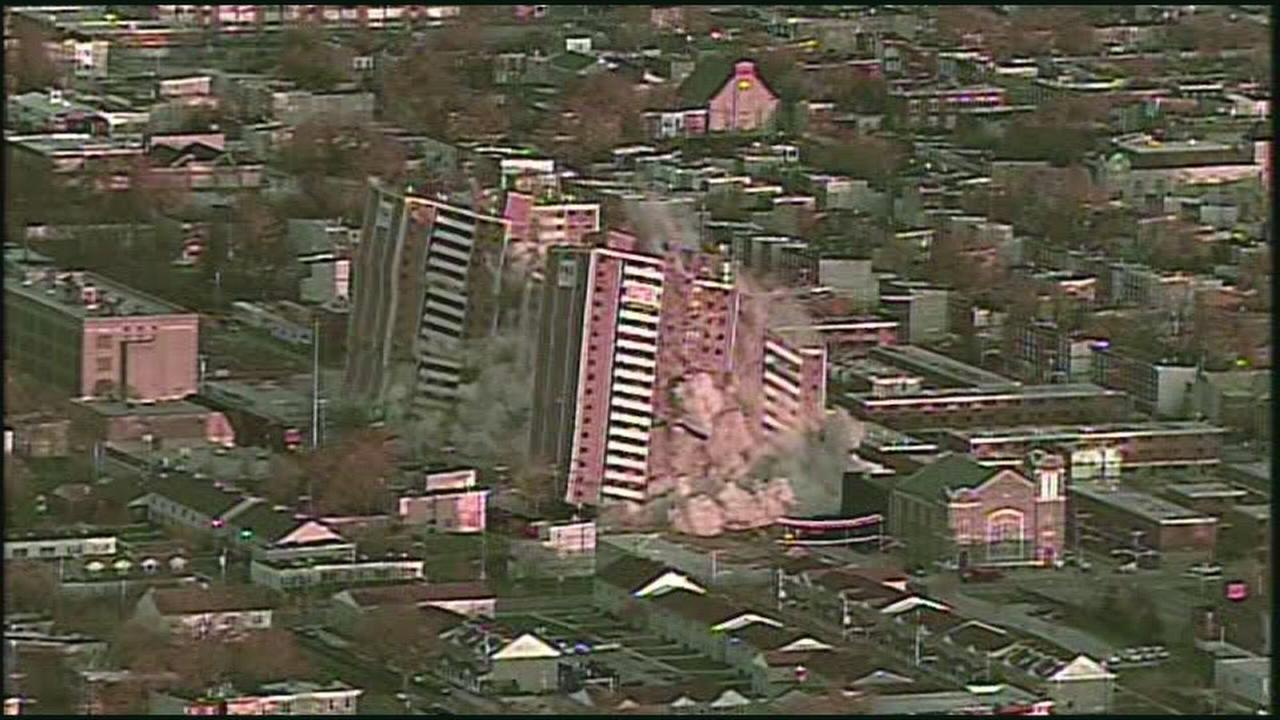 VIDEO: Sky view of PHA high rise implosion