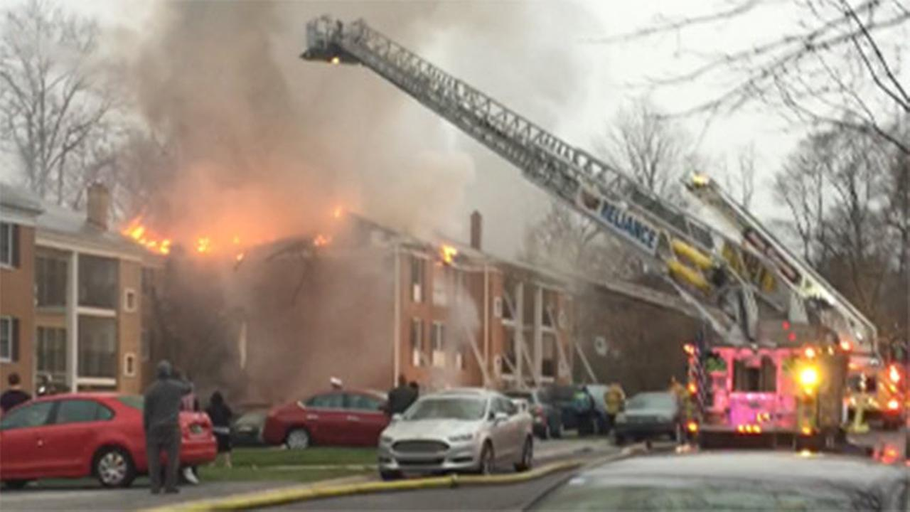 Fire erupts in Claymont apartment building