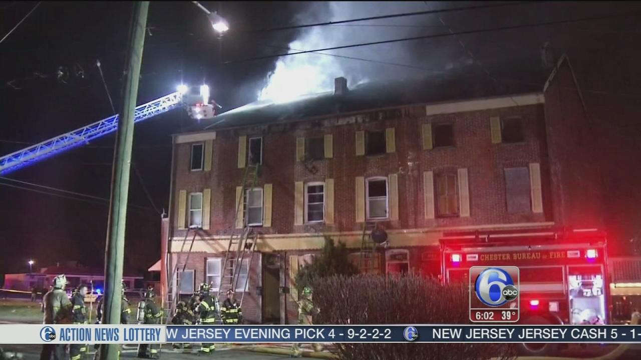 VIDEO: Firefighters rescue person from Delco fire