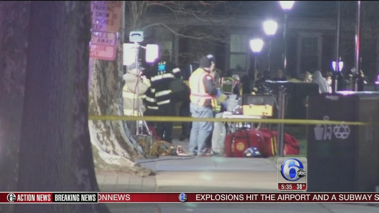 VIDEO: Hazmat crews investigate leak on college campus