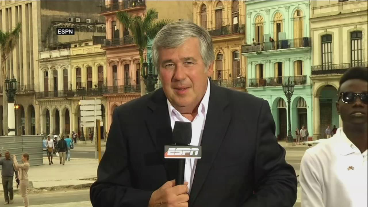 VIDEO: Demonstrator interrupts Bob Ley