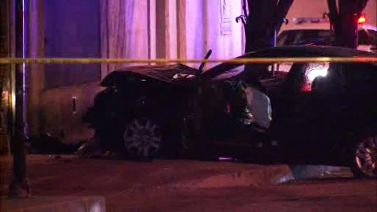 Shooting victim crashes into Camden building