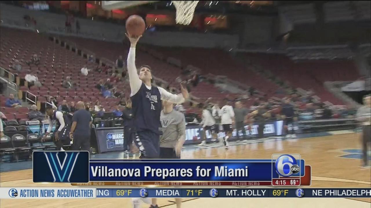 VIDEO: Villanova prepares for Miami
