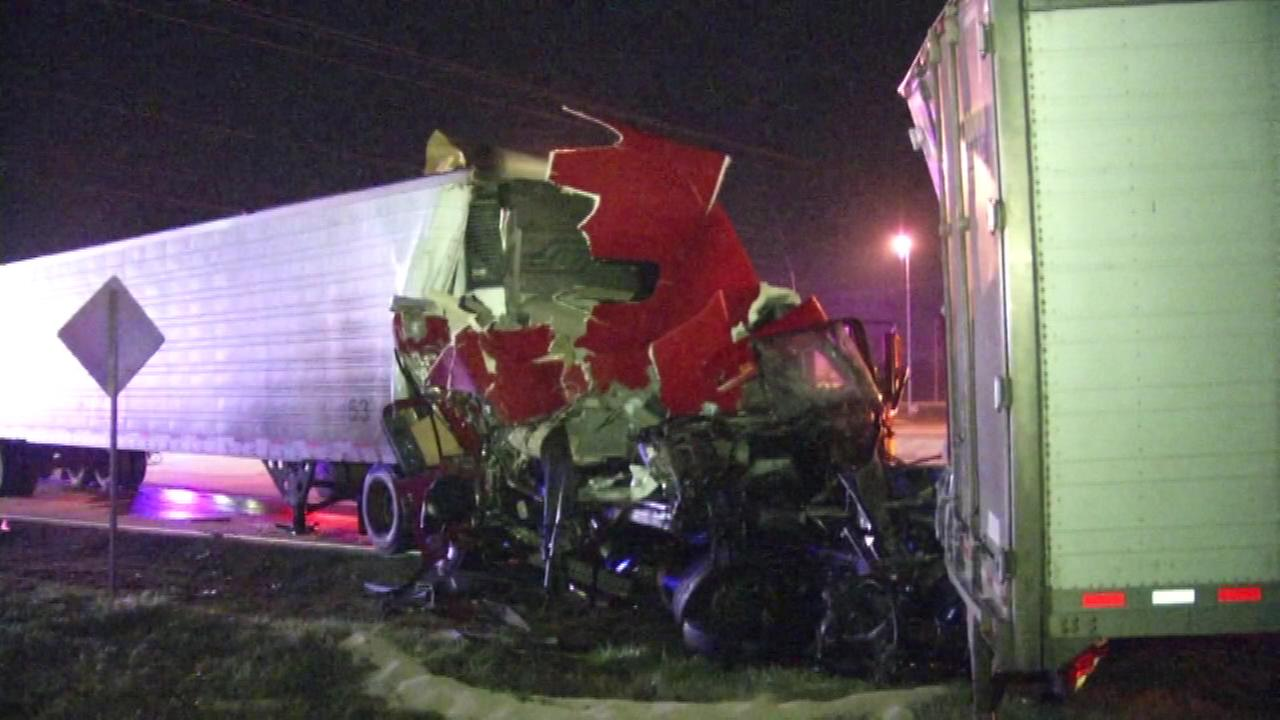 PICTURES: Crash involving two tractor-trailers that closed the southbound lanes of College Avenue (RT.896) blocked at Pulaski Highway (RT. 40).