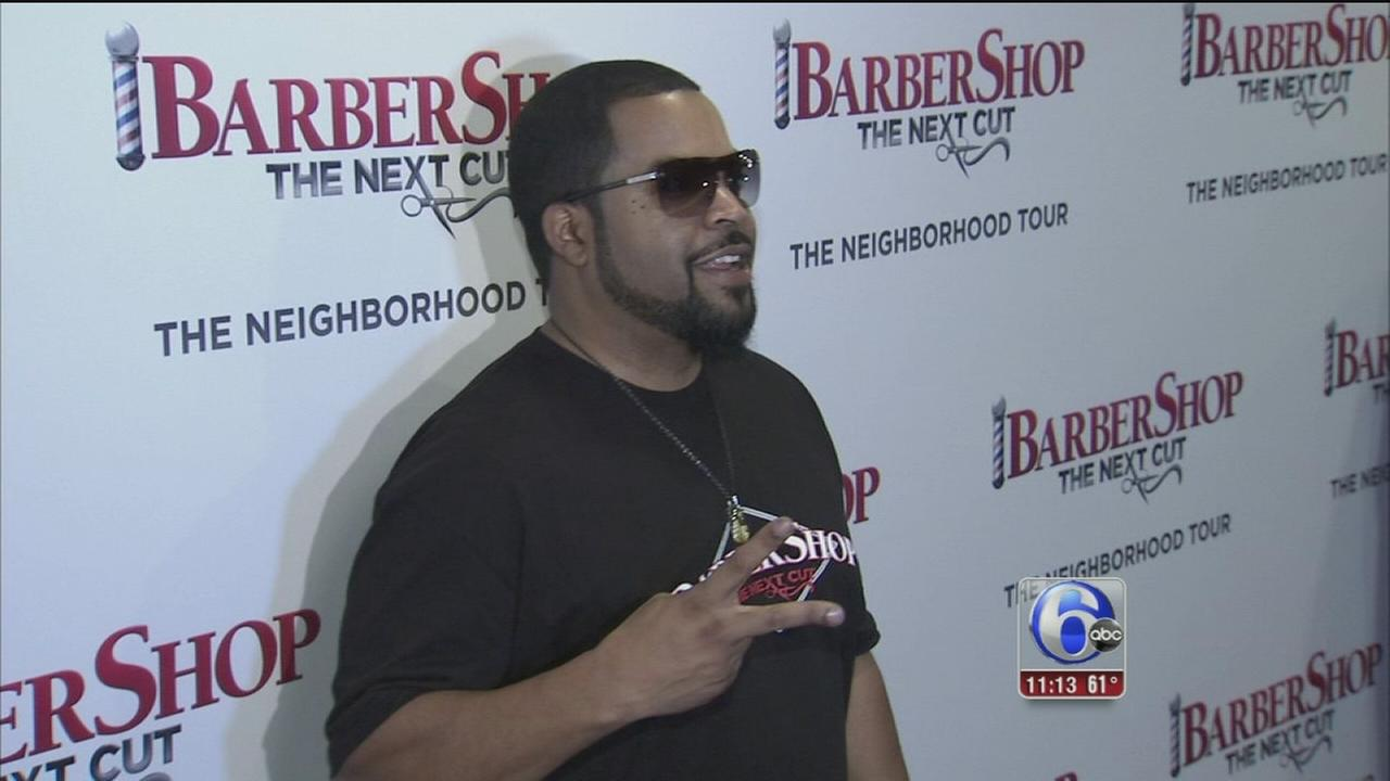 VIDEO: Barbershop red carpet premiere