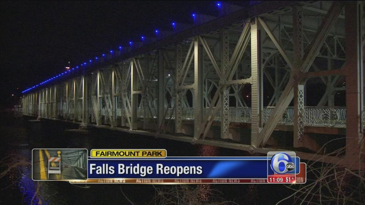 VIDEO: Falls Bridge reopens