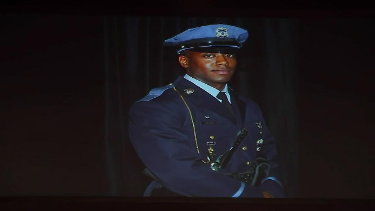 A funeral was held in Maryland for Delaware County, Pa. native Jacai Colson, a plainclothes narcotics officer who was killed in a shootout at a Maryland police station.