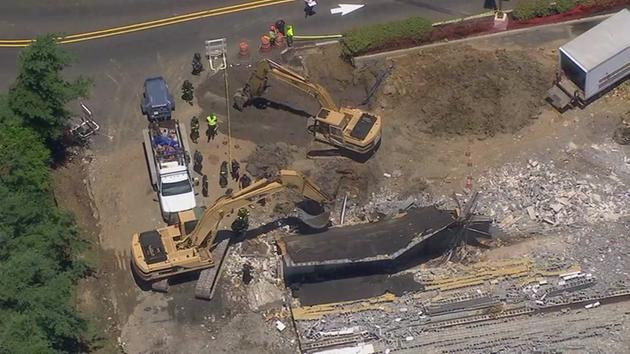 Raw video of collapse in Cherry Hill