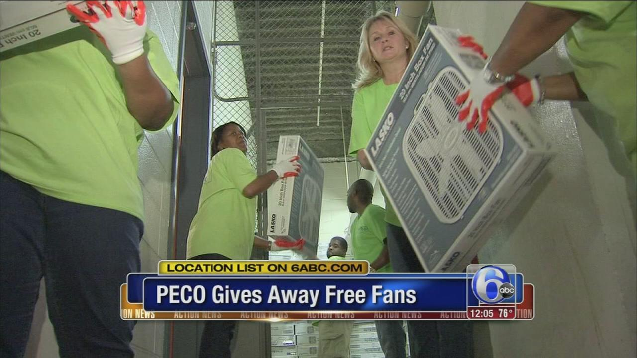 VIDEO: PECO gives away fans
