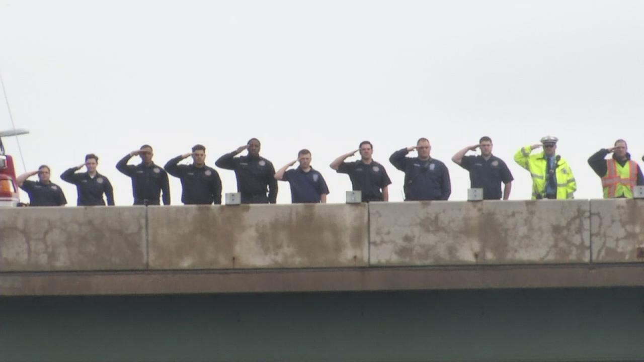 VIDEO: Procession for Ofc. Colson
