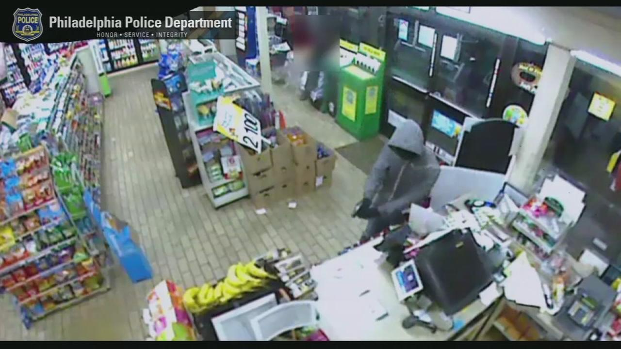 VIDEO: Suspect sought in multiple 7-Eleven robberies in Overbrook