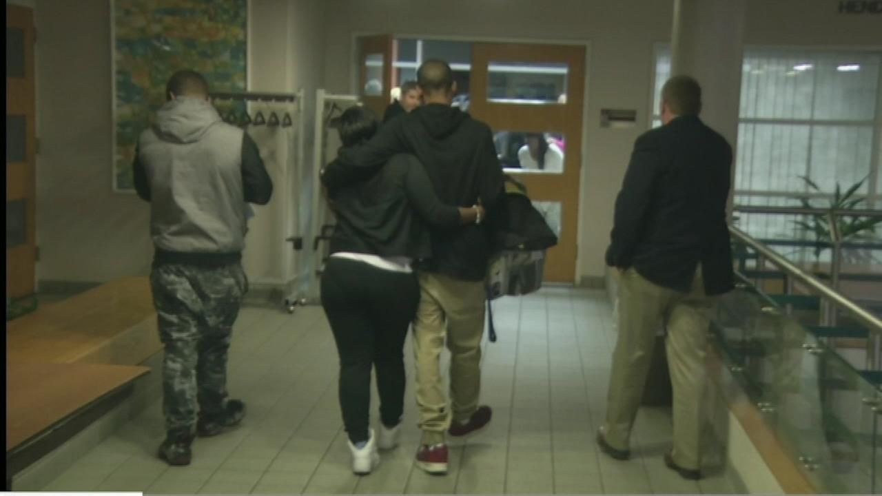 PICTURES: The family of a 7-week-old baby kidnapped from the King of Prussia Mall reunited with the boy at the Upper Merion police station.
