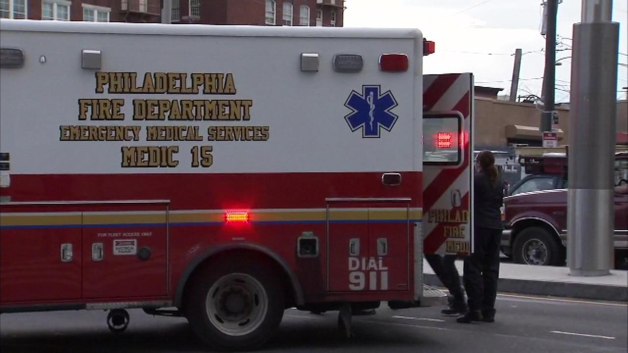 A 13-year-old boy was struck by a Philadelphia police vehicle in the city's Spring Garden section on Friday.