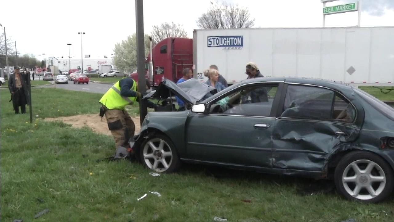 A serious crash along Route 13 left four people injured in New Castle County.