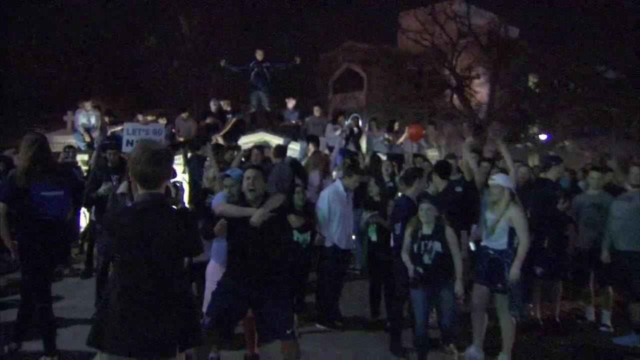??Nova Nation? was out in full force Saturday night celebrating the Wildcats 95-51 victory over Oklahoma in the ?Final Four?.