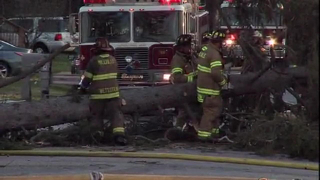 The high winds are likely to blame for a fire at a church in Millville, New Jersey.