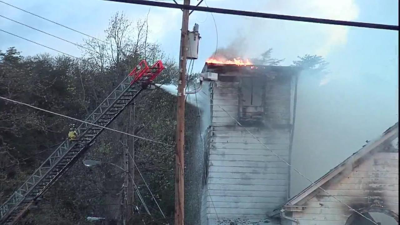 The high winds are likely to blame for a church fire in Millville, New Jersey.