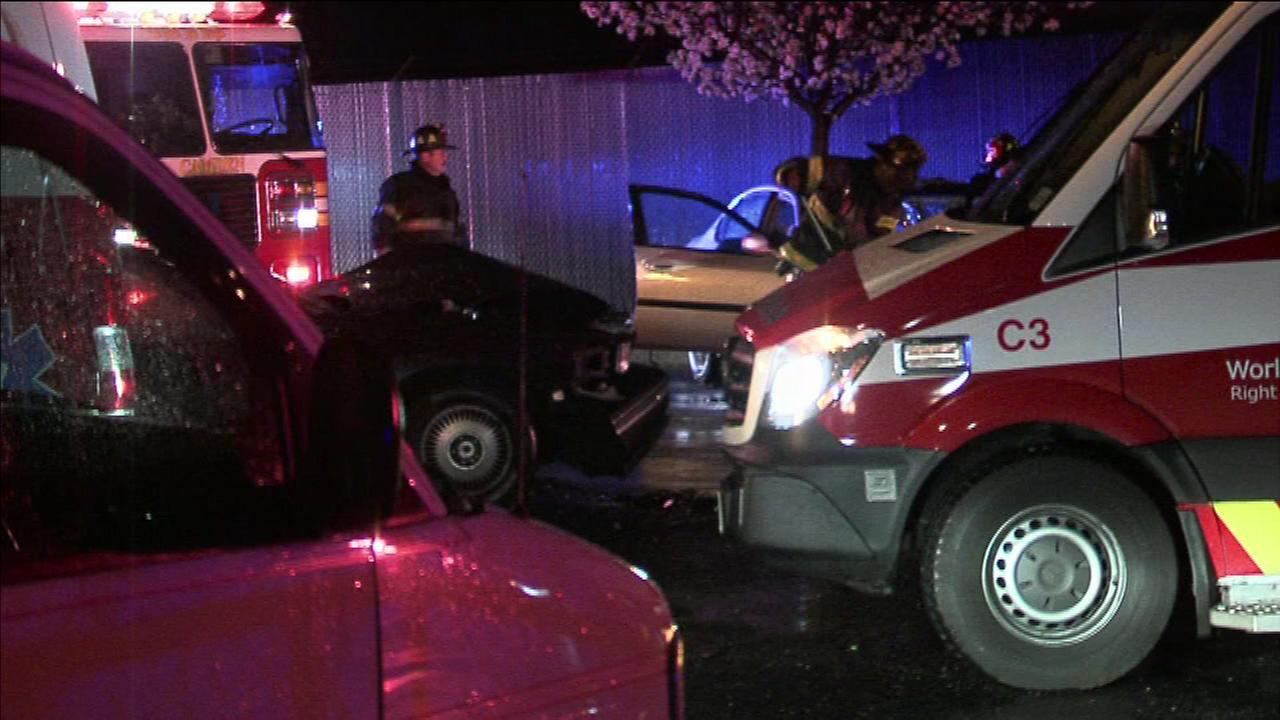 A man was injured in a head-on crash in Camden, New Jersey.