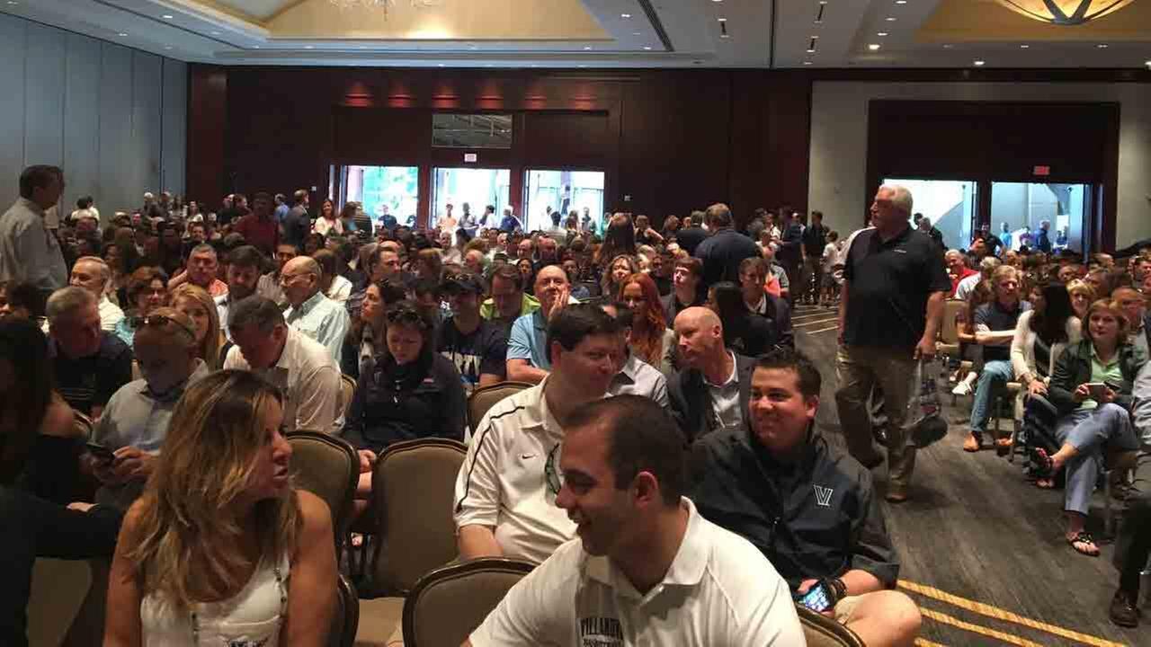 Nova Nation attends Mass on Sunday in Houston, the day after Villanovas Final Four victory over Oklahoma.Tracy Brala, President Villanova Alumni Association