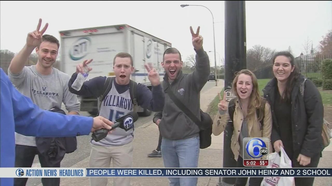 VIDEO: Game Day excitement on Villanova campus