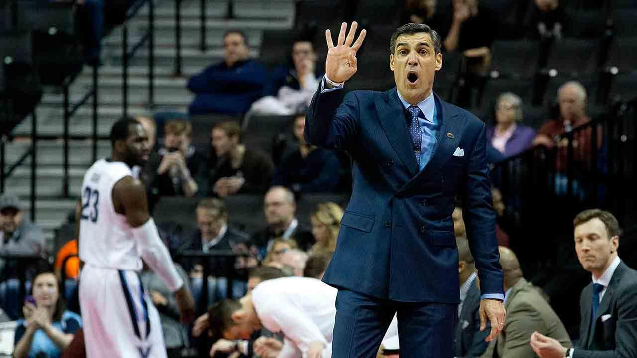 Villanova head coach Jay Wright instructs his team during the first half of a first-round mens college basketball game against UNC Asheville in the NCAA Tournament.