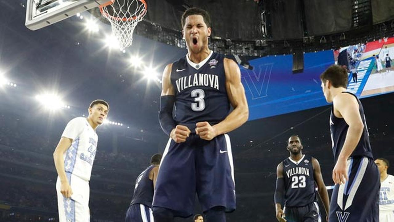 Villanova guard Josh Hart (3) reacts to play against North Carolina during the second half of the NCAA Final Four tournament college basketball championship game.AP Photo/David J. Phillip