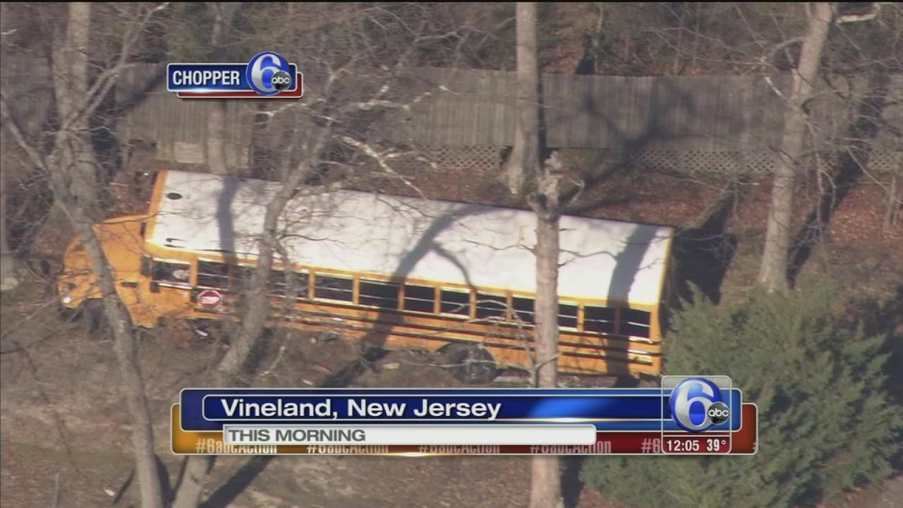 VIDEO: School bus, SUV collide