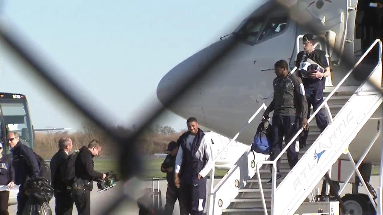 The Villanova Wildcats returned to the Philadelphia International Airport as National Champions.