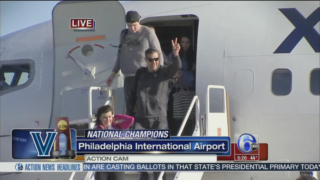 VIDEO: Villanova Wildcats return from Houston