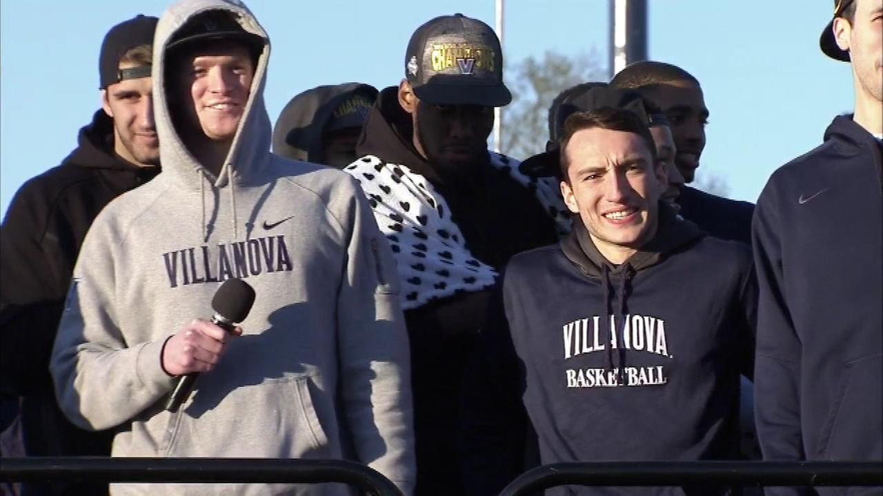 Hundreds gathered inside Villanova Stadium to welcome home their Nation Champion Wildcats.
