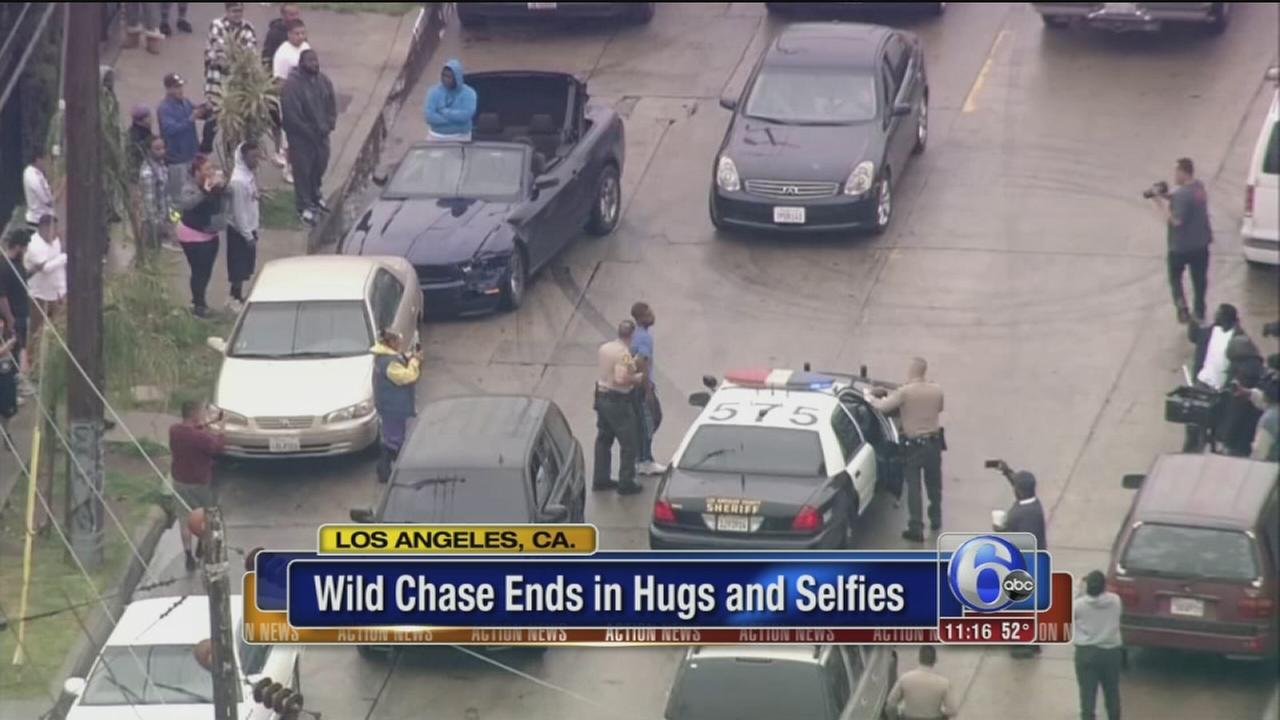 VIDEO: Bizarre police chase