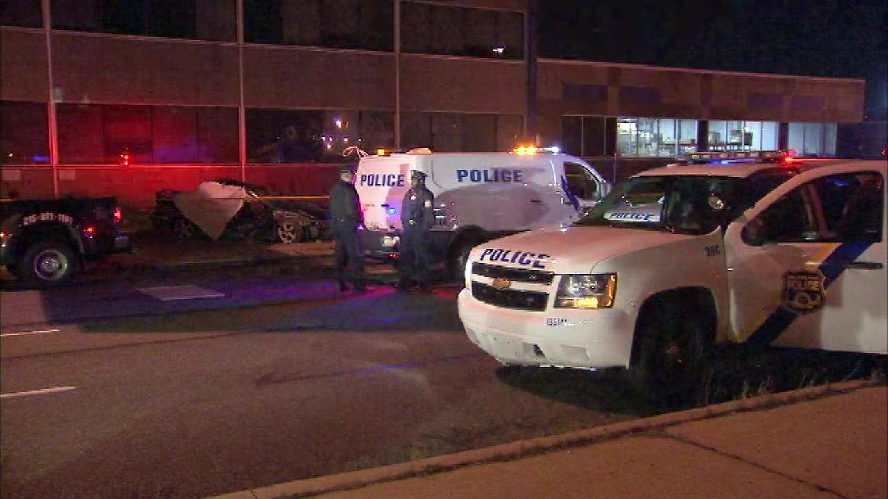 April 8, 2016: Police investigated a deadly crash on Columbus Boulevard in South Philadelphia.
