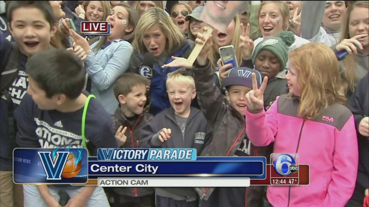 VIDEO: Fans of all ages arrive on parade route to cheer on Wildcats