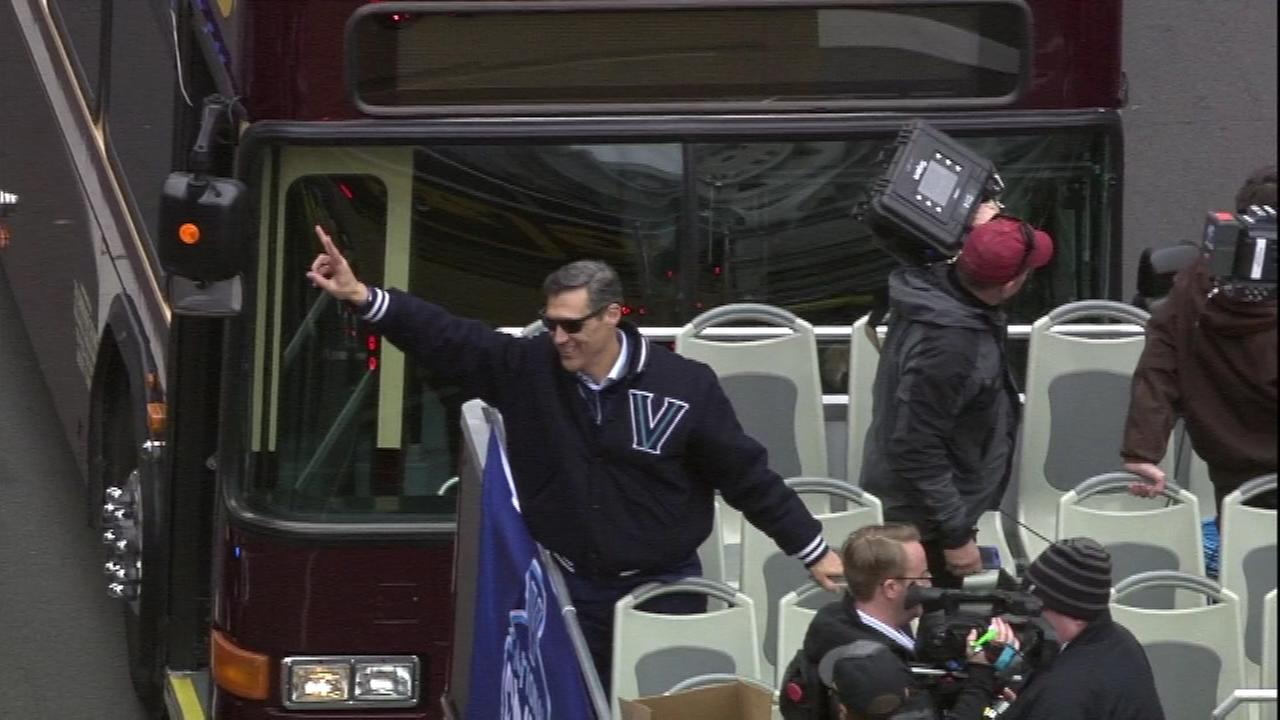Images from the Villanova Championship Victory Parade down Market Street to Dilworth Park in Center City Philadelphia.