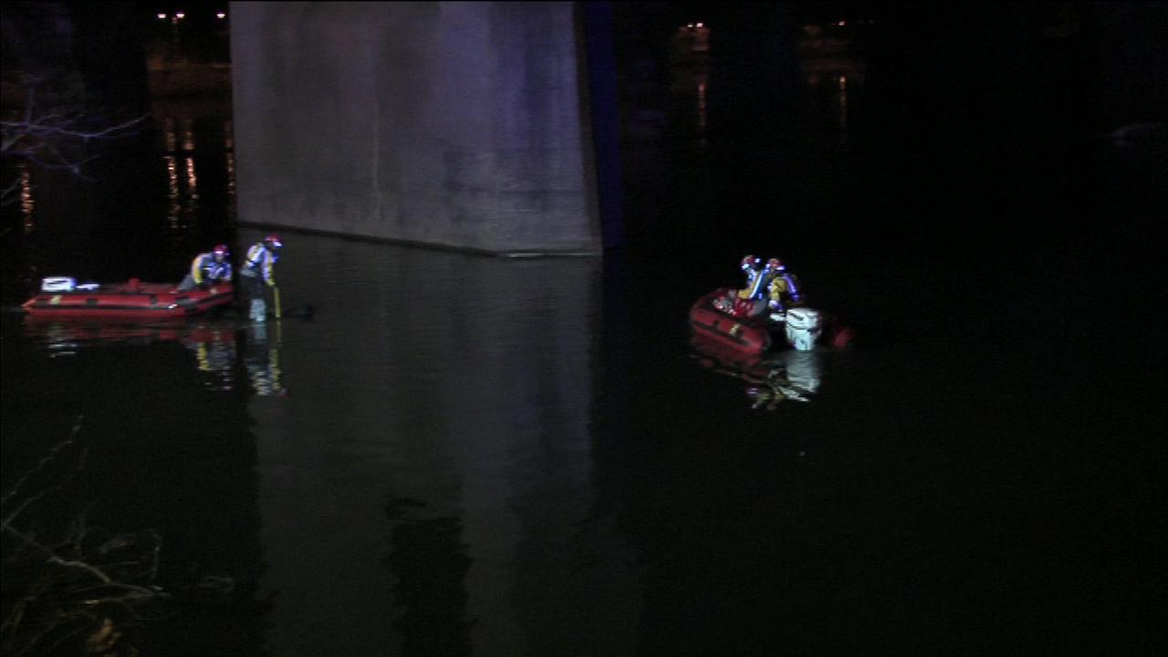 Rescuers pulled a mans body from a car that landed in the Schuylkill River after a crash.