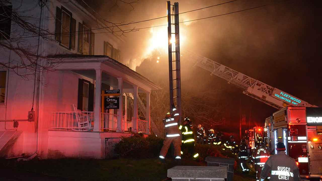 Authorities say a man died following an early morning fire in an eastern Pennsylvania home.