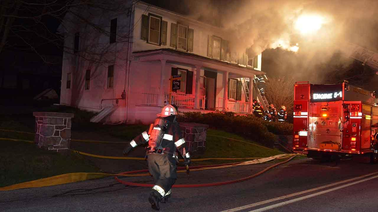 Authorities say a man died following an early morning fire in an eastern Pennsylvania home.Courtesy: Anna Potteiger