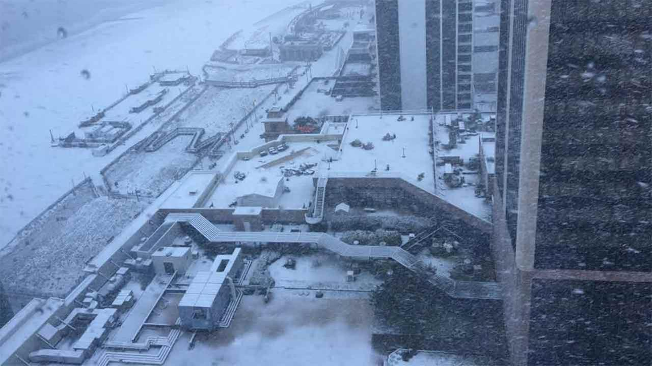 The snowy view from the 44th floor of Caesars Palace in Atlantic City, New Jersey.Marybeth Erwin Hegel