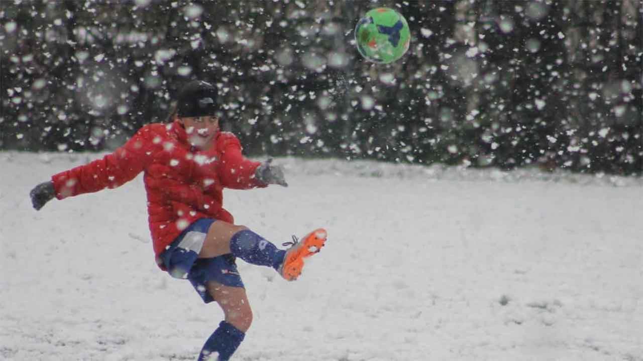 Soccer in the snow anyone?Dena