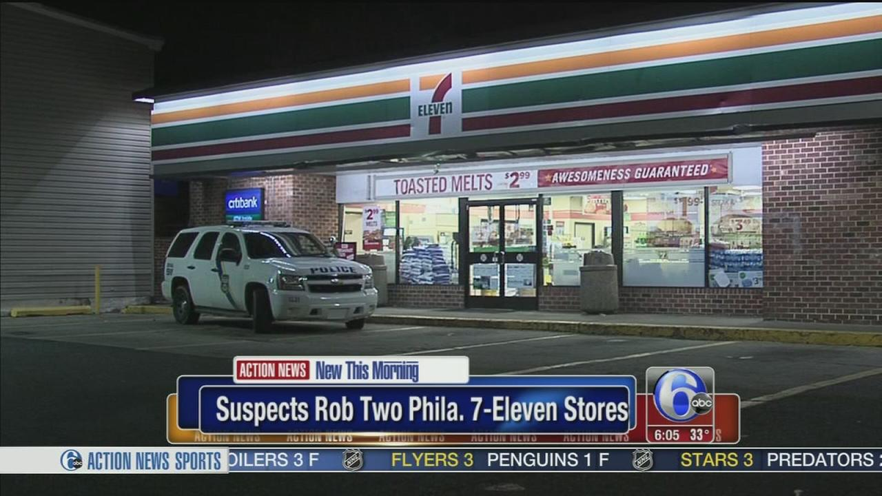 VIDEO: Two 7-Eleven robberies miles apart